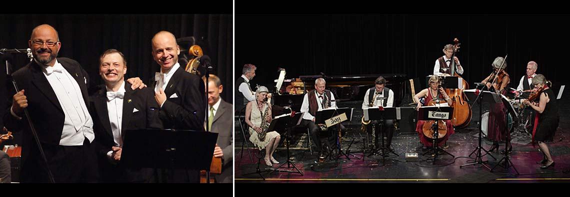 """Die Herren Wunderlich mit Orchester """"La Rose Rouge"""""""